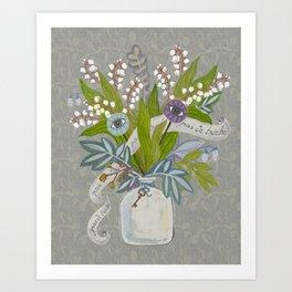 Mystical Flowers Art Print