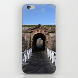 Bridge to Scottish blue skies iPhone Skin