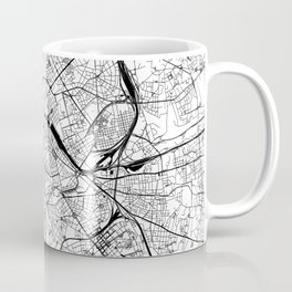 Rome White Map Coffee Mug
