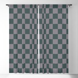 Checkerboard Pattern Inspired By Night Watch PPG1145-7 & Magic Dust Purple PPG13-2 Blackout Curtain