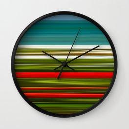 Praia da Luz Spring Poppies Wall Clock