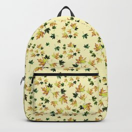 Fall wild nature, autumn leaves, orangeyellow Backpack