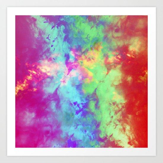 Painted Clouds Vapors II Art Print