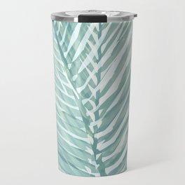 Abstract Palm Leaves | Mint Green Travel Mug