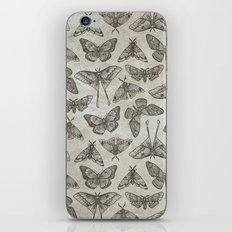 Lepidoptera Beige iPhone Skin