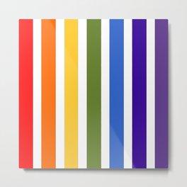 Stripes o' The Rainbow Metal Print