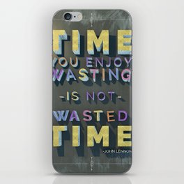 Time Wasted iPhone Skin
