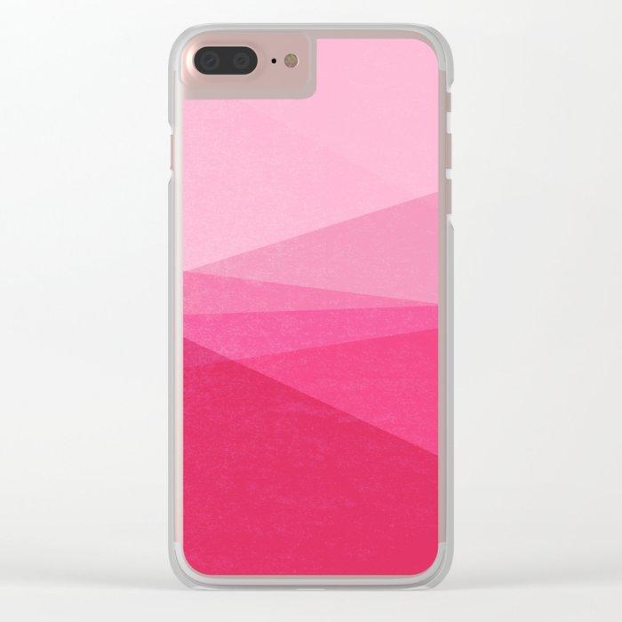 Stripe XI Cotton Candy Clear iPhone Case
