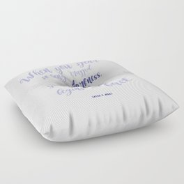 A court of mist and fury (purple) Floor Pillow