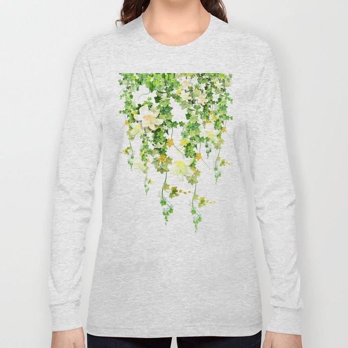 Watercolor Ivy Long Sleeve T-shirt