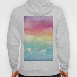Clouds in a Rainbow Unicorn Sky Hoody