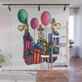 IMAGE #163 - BIRTHDAY GIRAFFES Digital Stamp by Sasayaki Glitter digital stamps- Naz- Wall Mural
