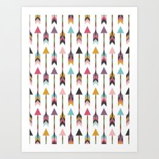 Bohemian Arrows-Pattern Art Print