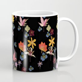 Dark Floral Garden Coffee Mug