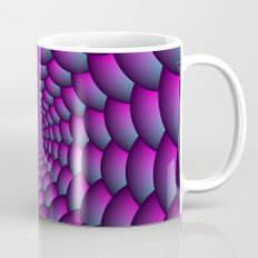 Ball Spiral in Pink Blue and Purple Mug