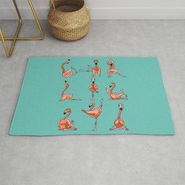 Flamingo Yoga Rug