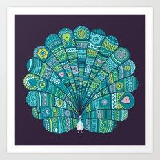 Peacock at noon Art Print