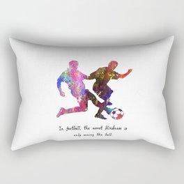 Standing Tackling In Football The Worst Blindness Rectangular Pillow