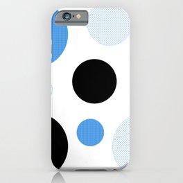 Atomic Era Circles With Dots Blue iPhone Case