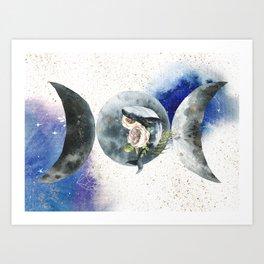 Whale Goddess Art Print