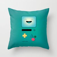 bmo Throw Pillows featuring BMO  by Milli-Jane