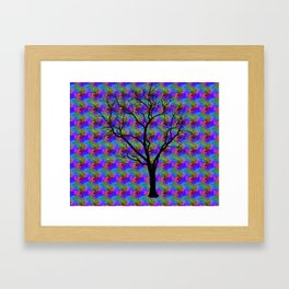 Psychedelic Mystery Tree Framed Art Print