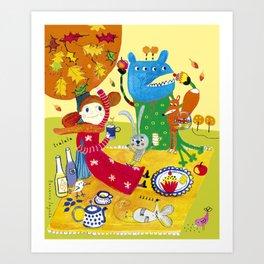 Sunny day in October Art Print
