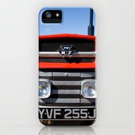 Massey Ferguson 135 vintage tractor,head on. iPhone Case