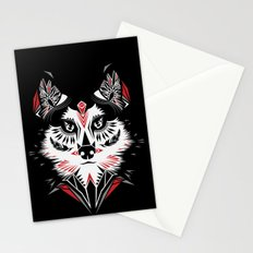 American Indian wolf Stationery Cards
