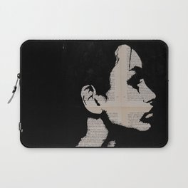 Black, white and words Laptop Sleeve