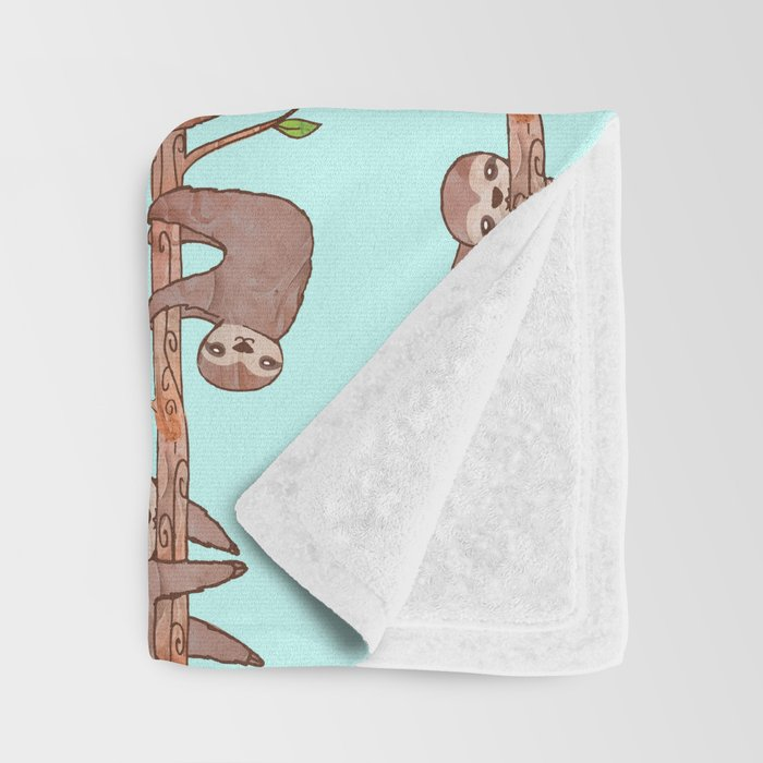 Lazy Baby Sloth Pattern Throw Blanket