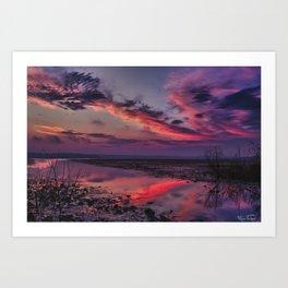 Cool clouds.... Art Print