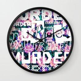 MURDER. Wall Clock