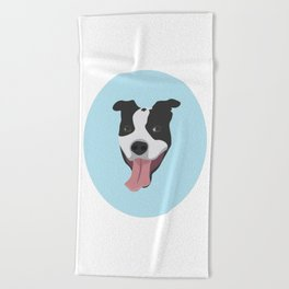 Smiley Pitbull Beach Towel