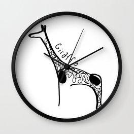 Simple Giraffe Wall Clock