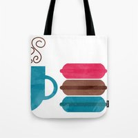 macarons Tote Bags featuring Macarons  by Daniela Marti