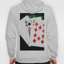 Blackjack Card Game, 21 Count, Ace Queen Ten Combination Hoody