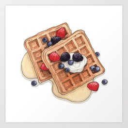 Breakfast & Brunch: Waffles Art Print