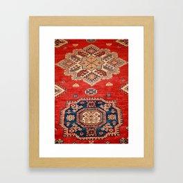 Natural Dyed Handmade Anatolian Carpet Framed Art Print