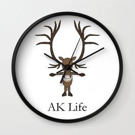AK Life Caribou Wall Clock