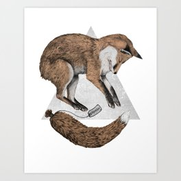 The Fox Who Lost His Tail Art Print