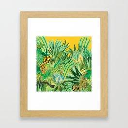 Leopard and a Chita Framed Art Print