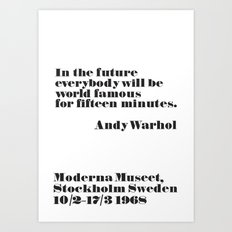 In the future Art Print