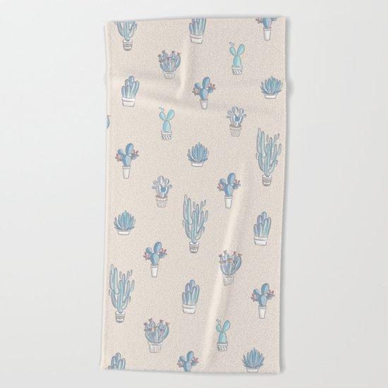 Succulent Pattern Desert Collection - #decor #buyart Beach Towel