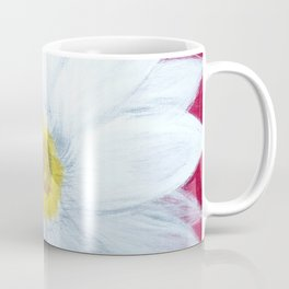 Daisy on Crimson Coffee Mug