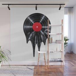 Melting vinyl / 3D render of vinyl record melting Wall Mural