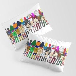 Superhero Butts - Girls - Row Version - Superheroine Pillow Sham