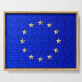 European Union Flag Jigsaw Serving Tray