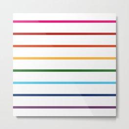 thin lines rainbow Metal Print