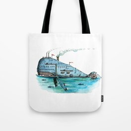 Steamboat Whale Tote Bag